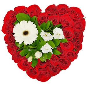"""Цветы на 14 февраля - Композиция """"Цветочное сердце"""""""