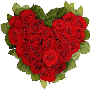 """Цветы на 14 февраля - Композиция """"С днем Святого Валентина"""""""